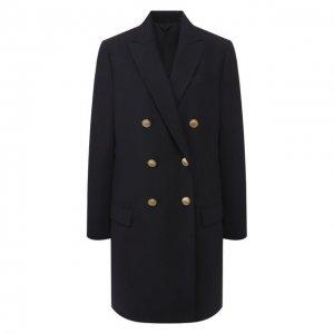 Шерстяное пальто Brunello Cucinelli. Цвет: синий