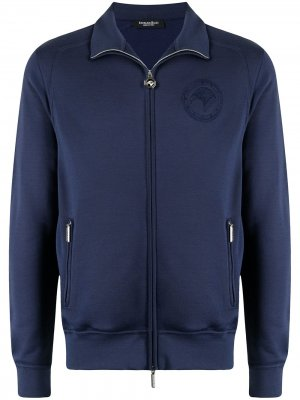 Бомбер с вышивкой Stefano Ricci. Цвет: синий