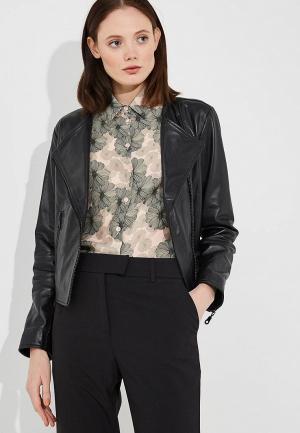 Куртка кожаная Alessandro DellAcqua Dell'Acqua AL056EWARJF9. Цвет: черный