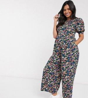 Комбинезон со шнуровкой и цветочным принтом ASOS DESIGN Maternity-Мульти Maternity