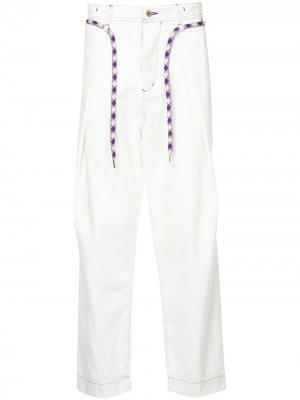Широкие джинсы A(Lefrude)E. Цвет: белый