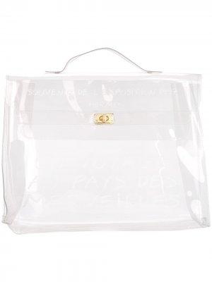 Пляжная сумка Vinyl Kelly Hermès. Цвет: нейтральные цвета