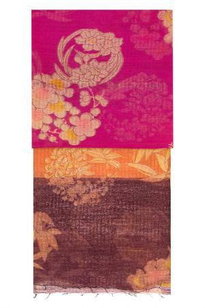 Палантин Michel Katana. Цвет: фуксия, оранжевый, коричневый