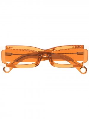 Солнцезащитные очки Les Lunettes 97 в прямоугольной оправе Jacquemus. Цвет: оранжевый