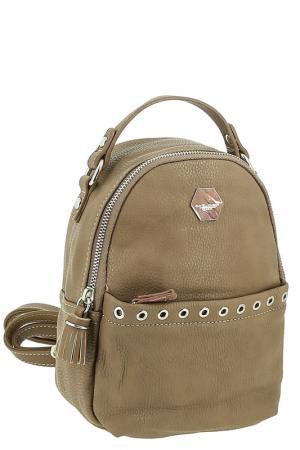 Сумка-рюкзак David Jones. Цвет: бежевый