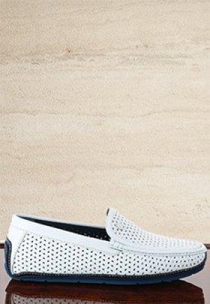 Мокасины ZILLI. Цвет: белый