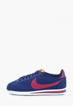Кроссовки Nike CLASSIC CORTEZ LEATHER WOMENS SHOE. Цвет: синий