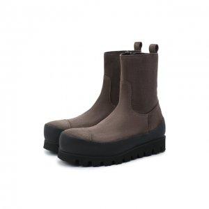 Замшевые ботинки Ann Demeulemeester. Цвет: коричневый