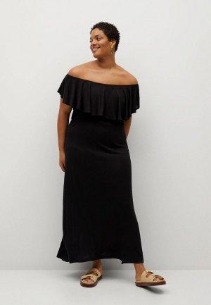 Платье Violeta by Mango - DUO. Цвет: черный