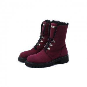 Замшевые ботинки Phillis Giuseppe Zanotti Design. Цвет: красный