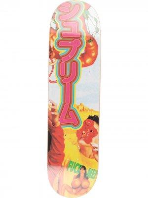 Дека для скейтборда Sekitani из коллекции SS19 Supreme. Цвет: желтый