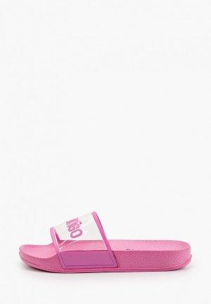 Сланцы Flamingo. Цвет: розовый