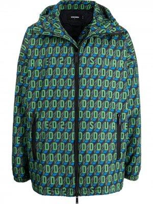Спортивная куртка с монограммой Dsquared2. Цвет: зеленый