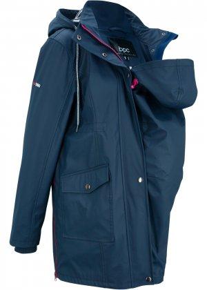 Куртка-дождевик для беременных bonprix. Цвет: синий