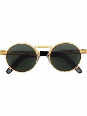Солнцезащитные очки в круглой оправе из коллаборации с Jean Paul Gaultier Supreme. Цвет: золотистый