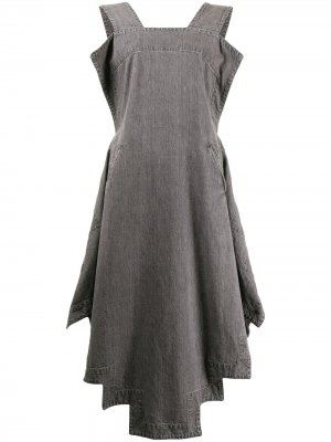 Платье-сарафан с драпировкой Yohji Yamamoto. Цвет: серый