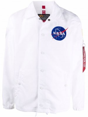NASA badge jacket Alpha Industries. Цвет: белый