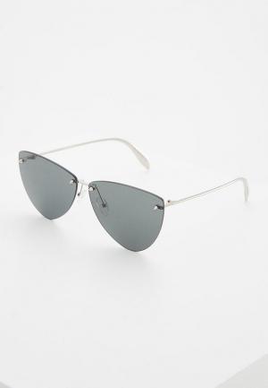Очки солнцезащитные Alexander McQueen AM0103S001. Цвет: серебряный