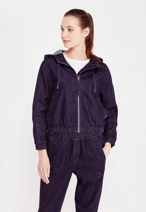 Куртка джинсовая PUMA Denim T7 Track Jacket. Цвет: синий