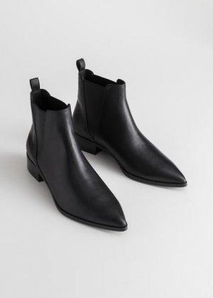 Кожаные ботинки челси &Other Stories. Цвет: черный