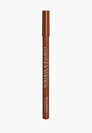 Карандаш для губ Bourjois Levres Contour Edition, 14 Dark Chocolate, 1 гр. Цвет: коричневый
