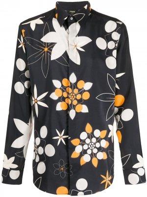 Рубашка с принтом Kaleido Fendi. Цвет: черный