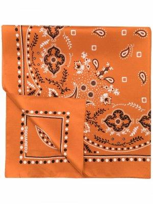 Бандана с принтом пейсли Dsquared2. Цвет: оранжевый