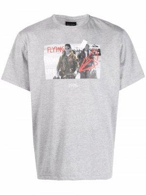 Flying graphic-print T-shirt Throwback.. Цвет: серый