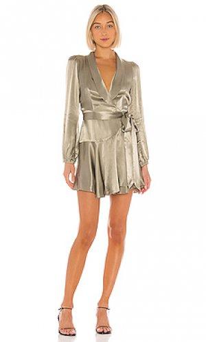 Платье с запахом joan Shona Joy. Цвет: зеленый