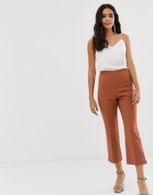 Бежевые расклешенные брюки длиной до щиколотки -Бежевый Miss Selfridge