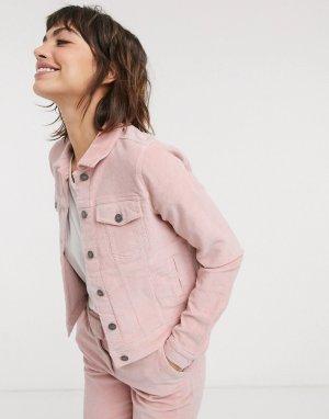 Джинсовая куртка -Розовый b.Young