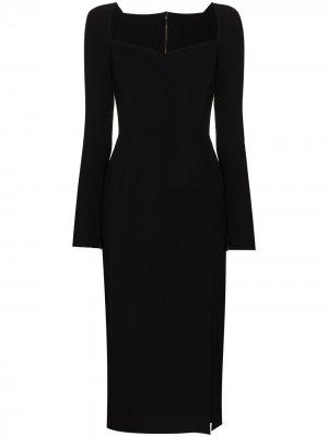 Sweetheart-neck midi dress Dolce & Gabbana. Цвет: черный