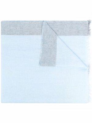 Шарф с бахромой D.Exterior. Цвет: синий