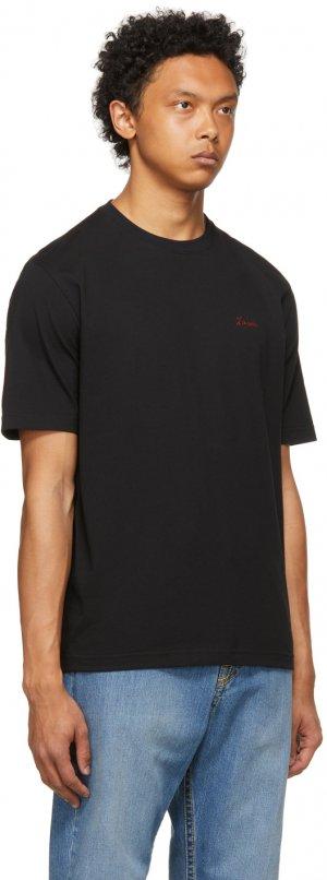 Black Logo T-Shirt Lanvin. Цвет: 10 black