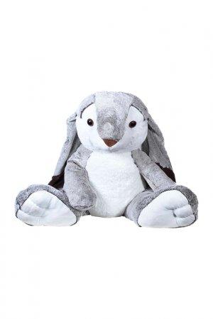 Мягкая игрушка Заяц 100 см MOLLI. Цвет: серый, белый