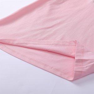 Рубашка-поло с вышивкой сердечка и контрастным вырезом для девочек SHEIN. Цвет: розовые