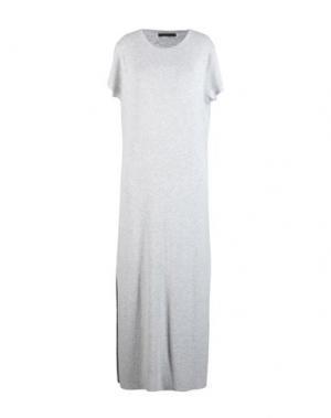 Длинное платье 360SWEATER. Цвет: светло-серый
