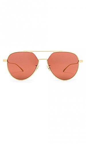 Солнцезащитные очки aviator Bottega Veneta. Цвет: красный