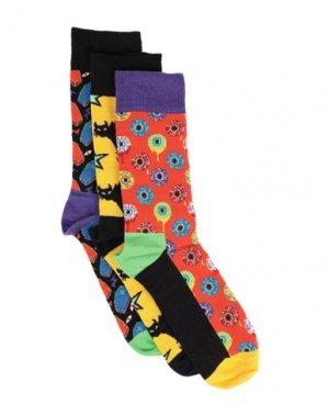 Короткие носки HAPPY SOCKS. Цвет: оранжевый