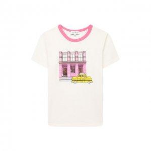 Хлопковая футболка MARC JACOBS (THE). Цвет: белый