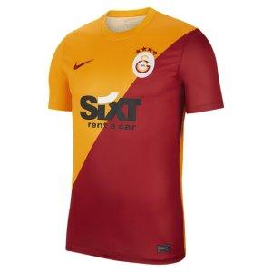 Мужская игровая футболка с коротким рукавом из домашней формы ФК «Галатасарай» - Оранжевый Nike