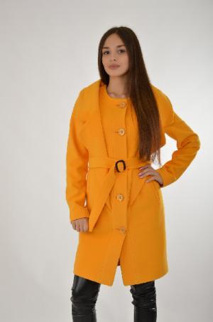 Пальто Klimini. Цвет: желтый