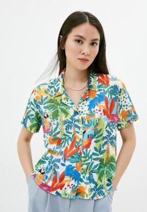 Блуза Mavi SHIRT SHORT SLEEVES. Цвет: разноцветный