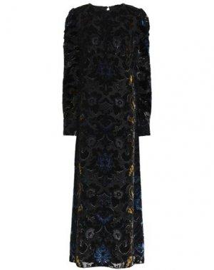 Длинное платье ANNA SUI. Цвет: черный