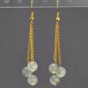 Серьги «венера» празиолит, с4179 Бусики-Колечки