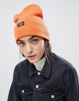Оранжевая шапка-бини Cheap Monday. Цвет: оранжевый
