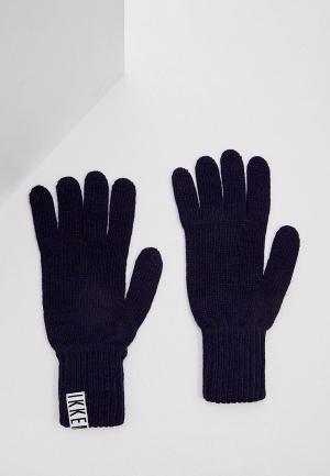 Перчатки Bikkembergs. Цвет: синий