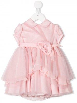 Платье с деталью из тюля Aletta. Цвет: розовый