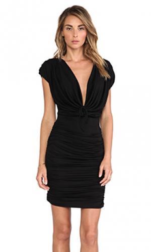 Мини платье veronica Boulee. Цвет: черный