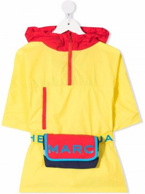 Colour-block belted raincoat The Marc Jacobs Kids. Цвет: желтый